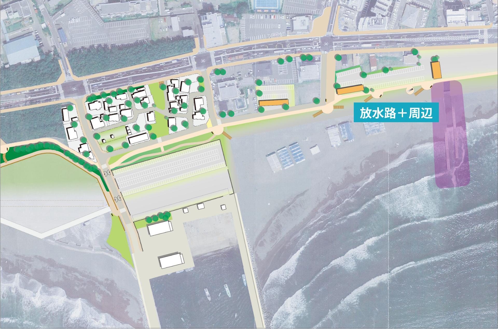 放水路周辺map