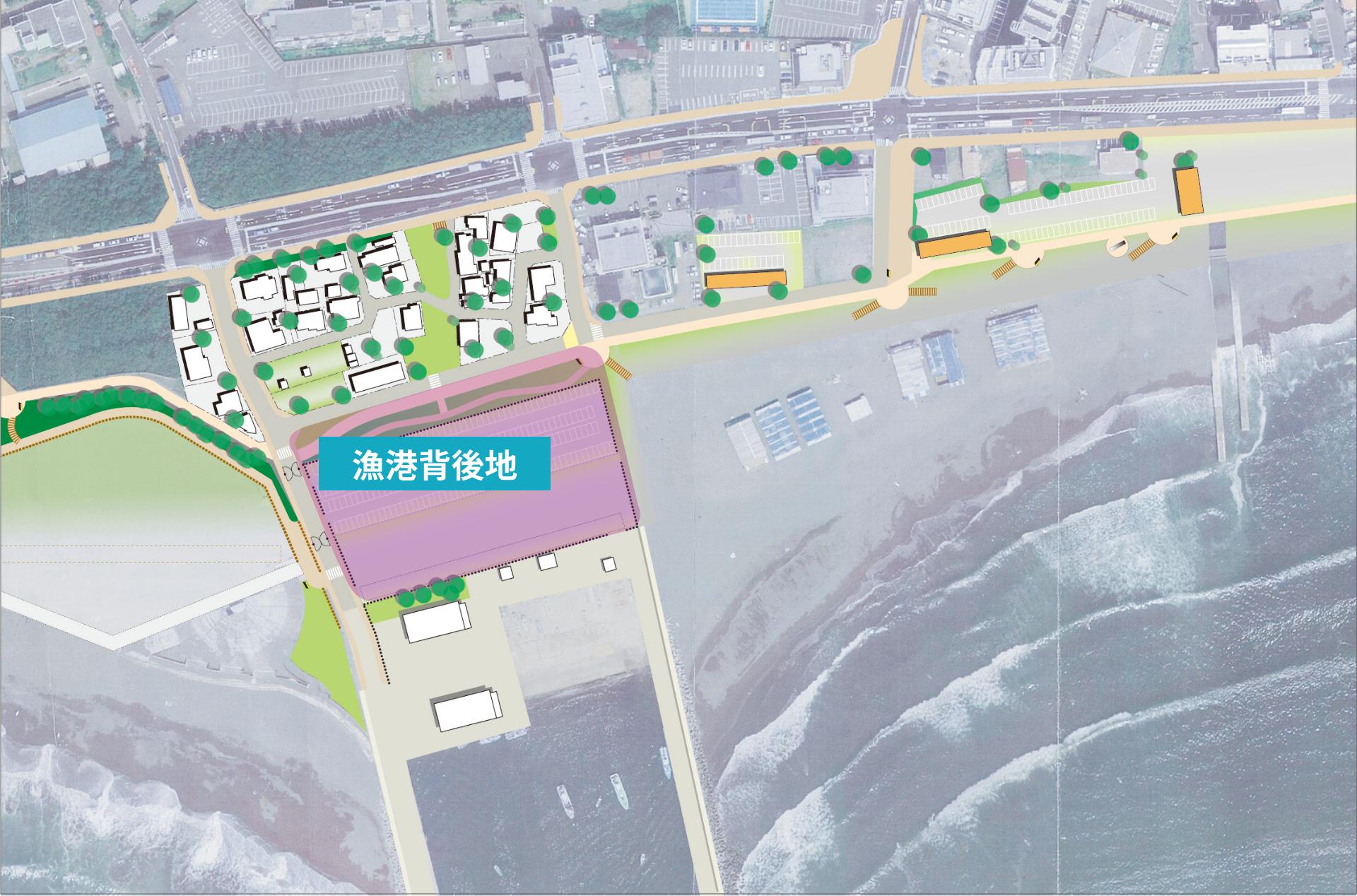 漁港背後地map